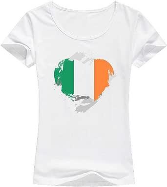 White Ireland Flag T-Shirt For Women