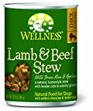 Wellness Canned Dog Food for Adult Dogs, Lamb and Beef Stew with Brown Rice and Apples, 12-Pack of 12-1/2-Ounce Cans, My Pet Supplies