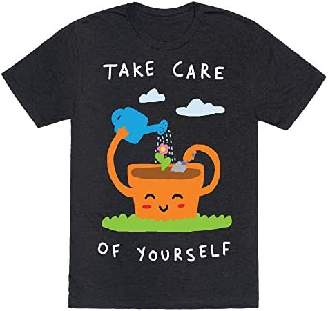 LookHUMAN Take Care of Yourself Mens/Unisex Fitted Triblend Tee