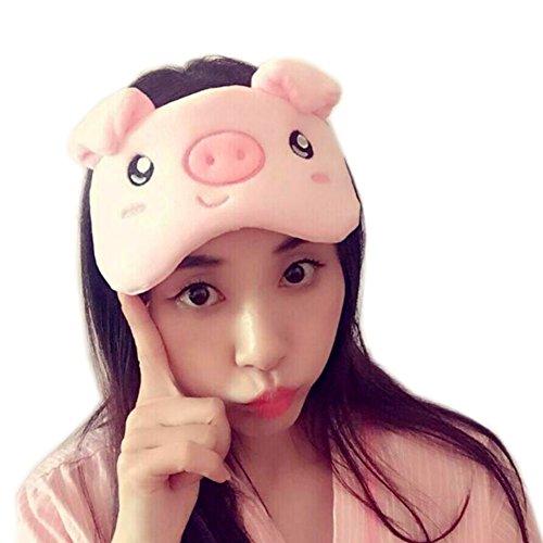 - YYC Frog Pig Sleeping Blindfold Eye Mask Gel Cold Hot Therapy Eyeshade Eye Cover (Pig)