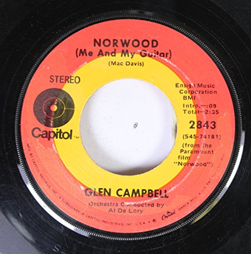 Glen Campbell - Glen Campbell 45 Rpm Norwood - Zortam Music