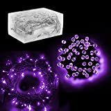 """30 Mini Bulb LED Battery Operated Fairy String Lights in Purple, for Christmas, Wedding, Home Decoration, Crafts (158"""" inch Long String) by Super Z Outlet®"""