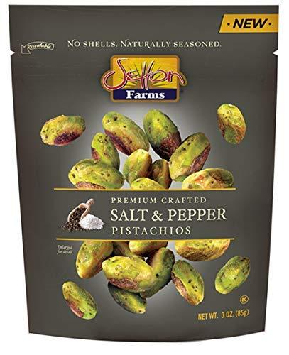 Setton Farms Premium Crafted Salt & Pepper Pistachios - No Shells - 3 ounce (2 pack) (Setton Farms Pistachios)