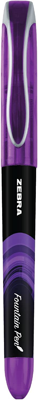 Black//LightBlue//Red//Green//Pink//Violet 6 x Zebra Fuente Disposable Fountain Pen