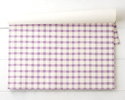 Hester & Cook Paper Placemat, Pad of 24 - Lilac Painted Check