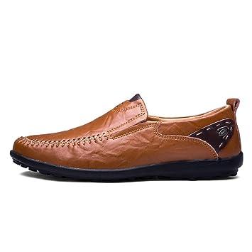 CAI HY Chaussures pour Homme, Cuir, Chaussures de Conduite