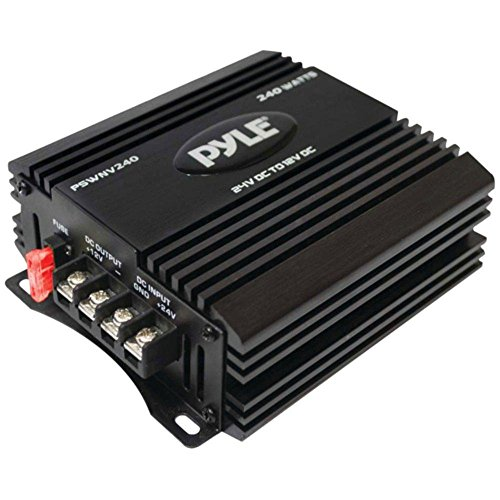 Watts Step Down Converter - PYLE PSWNV240 24-Volt DC to 12-Volt DC Power Step-Down Converter with PMW Technology (240 Watts) consumer electronics Electronics