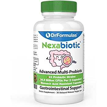 Nexabiotic Multi Probiotics with Saccharomyces Boulardii, Lactobacillus Acidophilus, Bifidobacterium infantis, 23 Probiotic Strains, 30 Count