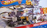 Hot Wheels MEGA GARAGE Multi Level Action Playset with ELEVATOR, SPINNING SHOWROOM, 3 Exit Ramps & MORE! Huge Play Set with 1:64 Scale Car