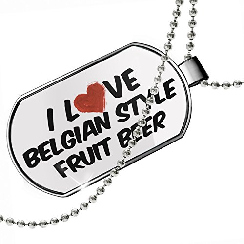 NEONBLOND Dogtag I Love Belgian Style Fruit Beer Dog Tags Necklace