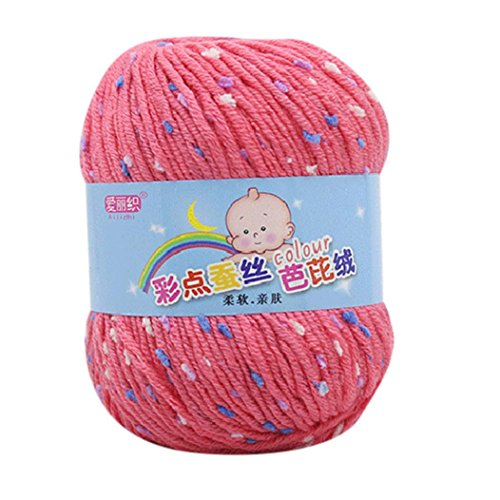 Yarns for Knitting Crochet Craft, Clearance Sale! Iuhan Hand Knitting Knicker Yarn Crochet Soft Scarf Sweater Hat Yarn Knitwear Wool, 12 Skeins Mini Yarn (E)