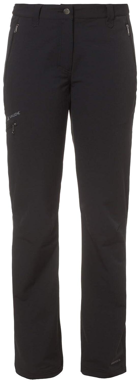 VAUDE Strathcona Pantalones Softshell, Mujer, Negro, 48