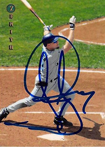 Jay Buhner autographed baseball card (Seattle Mariners) 1997 Pinnacle Zenith #38 (Card Pinnacle Autograph)