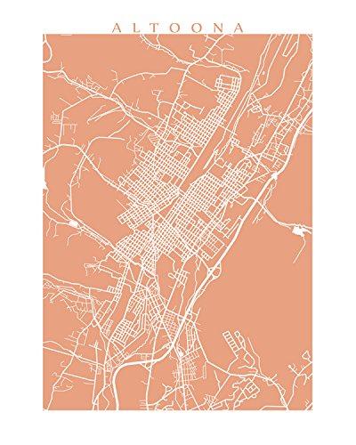Pennsylvania In Usa Map.Amazon Com Altoona Map Print Pennsylvania Usa Handmade