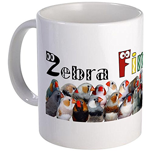 CafePress - Zebra Finch Crazy Sticker Mugs - Unique for sale  Delivered anywhere in USA