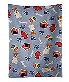 Caroline's Treasures BB2714KTWL Dog House Wire Fox Terrier Kitchen Towel, 25