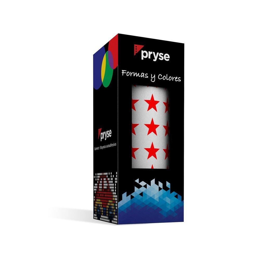Pryse A Gomets etiquetas adhesivas color rojo
