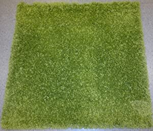 Perfect IKEA GREEN SQUARE RUG, HIGH PILE, 80cmX80cm