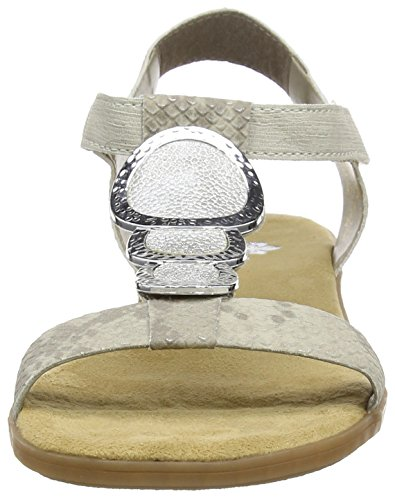 White Femme Sandales silver 64 64278 Bout Ouvert Beige Crema Rieker Hay naR71C