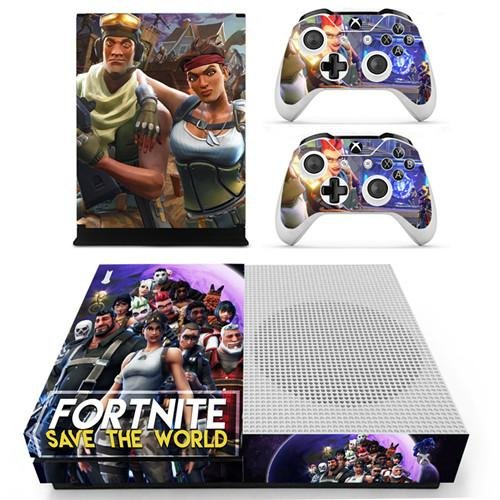 Xbox One Vinyl Skin Sticker Cover for Xbox System Console and Controllers- Fortnite (Save The World)