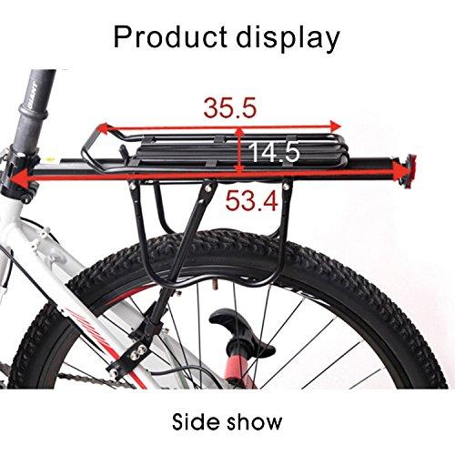 Multifunktions 190lb Kapazität Bike Cargo hinten Racks verstellbar besetzt Riding Carrier Rack Montiert für große Taschen Paar mit Reflektor Licht schwarz