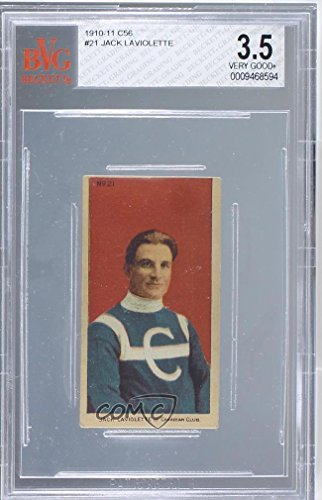 (Jack Laviolette BVG GRADED 3.5 (Hockey Card) 1910 Imperial Tobacco Hockey Series - C56 [Base] #21)