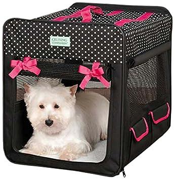 Crucero compañero Lunares Perro Plegable Crate: Amazon.es: Productos para mascotas
