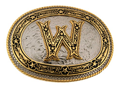 Western Belt Buckle Initial W Letter American Alphabet Monogram Cowboy New Rodeo (Buckle Greek Belt)
