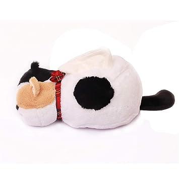 Joeesun 30 cm Kawaii Japón de Dibujos Animados Gatos Felpa Animal Gato En Forma de Caja Caja de Pañales Servilleta Titular de Papel Home Shop decoración: ...