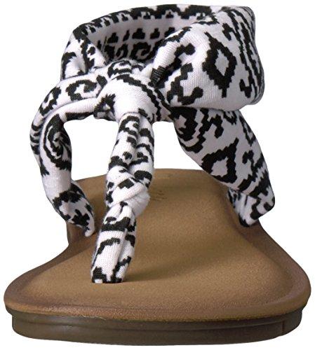 Skechers Women's Indulge 2-Urban Safari Flip Flop White/Black ifZDZb