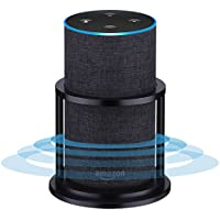Speaker Stands for Alexa Echo 2nd Generation, Aluminum, Black | Enhanced Strength and Stability to Protect Alexa Echo Speaker | Keep Original Sound | Sleek Smart Home Décor