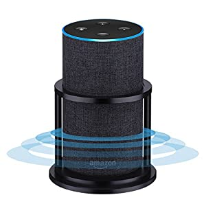 Speaker Stands for Alexa Echo 2nd Generation, Aluminum | Enhanced Strength and Stability to Protect Alexa Echo Speaker | Keep Original Sound | Sleek Smart Home Décor