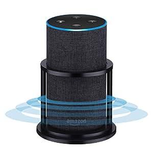 Speaker Stands for Alexa Echo 2nd Generation, Aluminum, Black | Enhanced Strength and Stability to Protect Alexa Echo Speaker | Keep Original Sound | Sleek Smart Home Décor