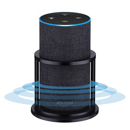 Speaker Stands for Alexa Echo 2nd Generation, Aluminum, Black | Enhanced Strength and Stability to Protect Alexa Echo Speaker | Keep Original Sound | Sleek Smart Home (New Tech Tv Base)