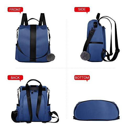 Anti Bag Fashion Theft Blue School for Backpack Women Nylon for Bag Ladies Waterproof Girls Rucksack Shoulder n0S0ZqXr