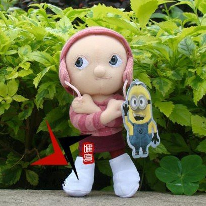 Despicable Me Pink cap girl Edith,7inch 19cm height, Christmas gifts wholesale,valentine's day gift, wholesale -