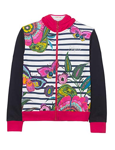 Blue navy Girl Girl 5000 chejov sweat Desigual Knit Jacket Giacca 8gqPXX