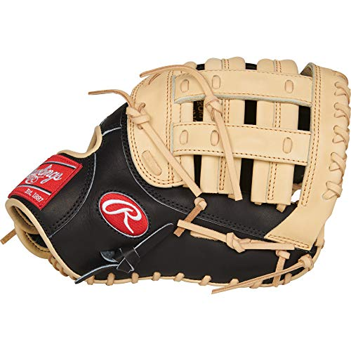 Rawlings Heart of The Hide R2G Baseball Glove, Black/Camel, 12.5 inch, Modified Pro H Web, Right Hand Throw (Best Way To Break In A First Base Mitt)