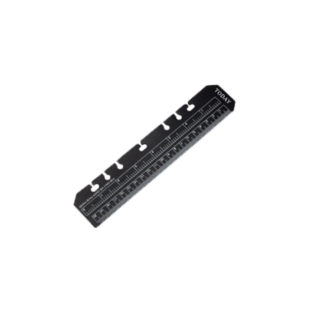 Fablcrew Ruler Soft PVC Bookmark See Through for A5 6 Holes Loose-Leaf Binder Notebook 6 inch (Black)