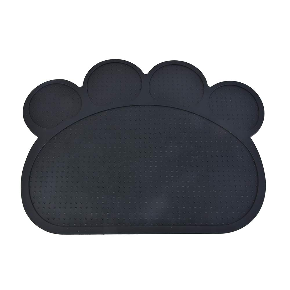 Loweryeah Pet Dog Cat Food Water Feeder Bowl Blanket Non-Slip Mat Safety Silicone Cute Paw Shape 1 Pc