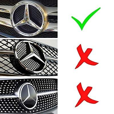 LED Emblem for Mercedes Benz 2011-2020, Front Car Grille Badge, Illuminated Logo Hood Star DRL, White Light - Drive Brighter (W205 C-Class, W212 E-Class, C117 CLA-Class, etc): Automotive