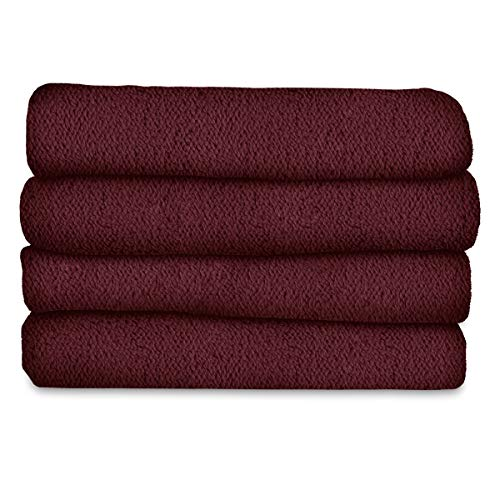 Sunbeam Heated Blanket | LoftTec, 10 Heat Settings, Garnet, Twin