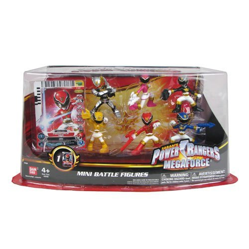 Power Rangers Megaforce Mini Battle-Ready Figures, 6 Pack]()