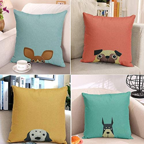 cartoon Cute Design Standard Size 20x30 Two Side Print Cute Pet Doggy Yorkshire Terrier Diy Pillowcases Protector gift for kids-8