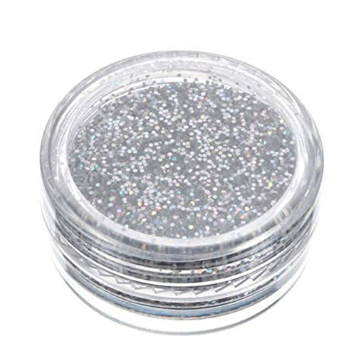 linqiudD 2021 Personality Sparkly Makeup Glitter Loose Powder Eyeshadow Silver Eye Shadow Pigment 5ml