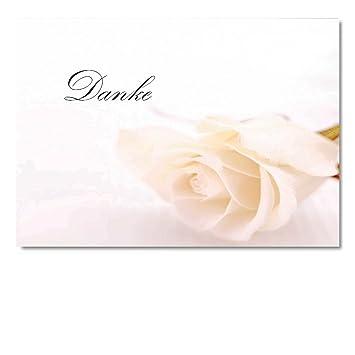 Digitaloase Dankeskarten Danksagung Hochzeit Taufe Anteilnahme Danke Beerdigung Trauer 2 Klappkarten 2 Kuverts Format Din A6 Rosewe