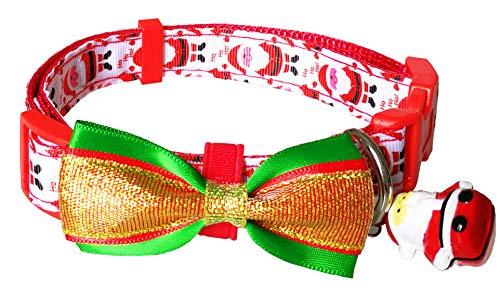 E&L Classic Christmas Holiday Season Adjustable Pet Collar Christmas Dog Collar (Small (9.2
