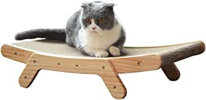 ZAMATE Cat Scratching Board, Corrugated Cat Scratcher Cardboard for Furniture Protection, Reusable Cats Scratching Pad Lounge Durable Toy