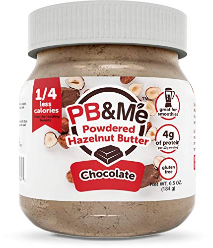 PB&Me PB&Me Powdered Hazelnut Spread, Keto Snack, Gluten Free, Plant Protein, Chocolate, 6.5 Ounce