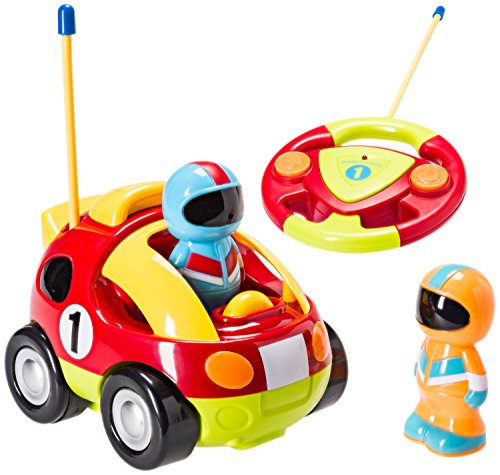 R/c Radio Control - Cartoon R/C Race Car Radio Control Toys for Kids with 2 Removable Race Car Driver Figures